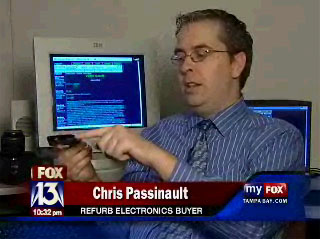Frontier Society site founder Chris C. A. Passinault interviewed by Tampa Bay's FOX 13 for a consumer electro nics story which aired on November 28, 2007.
